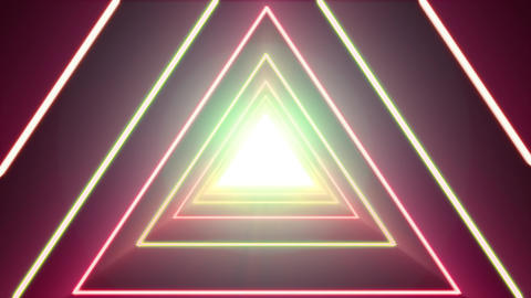Abstract Background Loop With Neon Shiny Triangle Animación