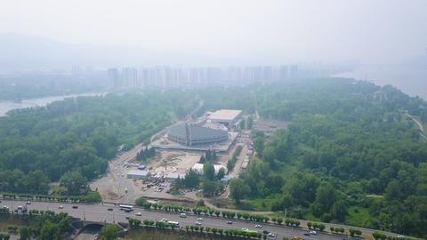 Sports facility. Palace of Sports named after I. Yarygin. Russia, Krasnoyarsk ( Live Action