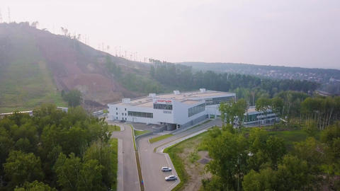 Russia, Krasnoyarsk. WINTER SPORTS ACADEMY. SOPKA MULTIFUNCTIONAL SPORTS ビデオ