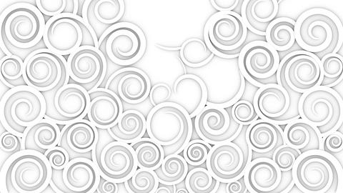 Abstract background. Growing illustrations of curls Stock Video Footage