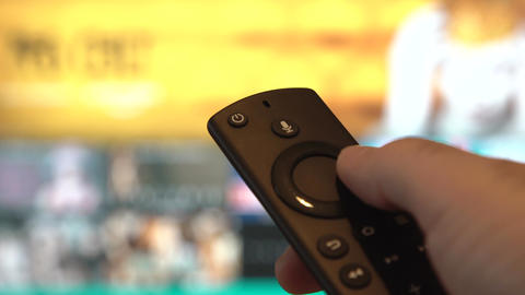 Using TV Remote Controller Stock Video Footage