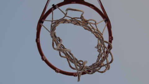 Isolated basketball hoop and ball score a goal Archivo