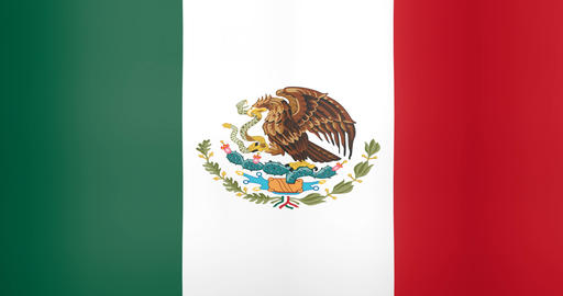 Waving Flag of Mexico Looping Background Live Action