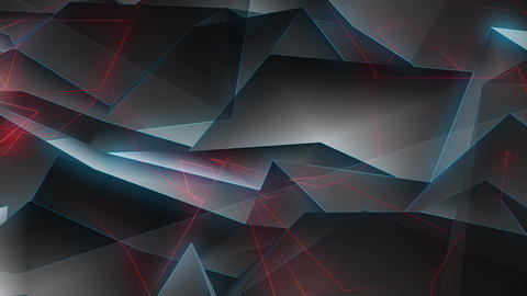Glowing Blue Red Lines Motion 4K Animation