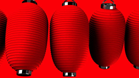 Red paper lantern on red background Stock Video Footage