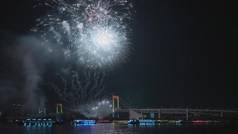 Fireworks festival at Tokyo Bay in Japan GIF