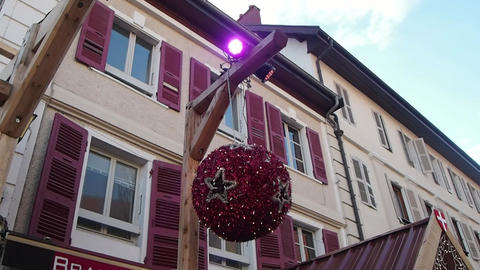 Christmas Decoration in Street Footage