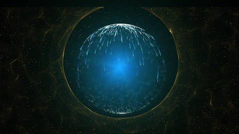 Futuristic circle background.Color energy ring.An animated abstract Animation