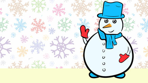 Christmas snowmen and sale color snow Stock Video Footage