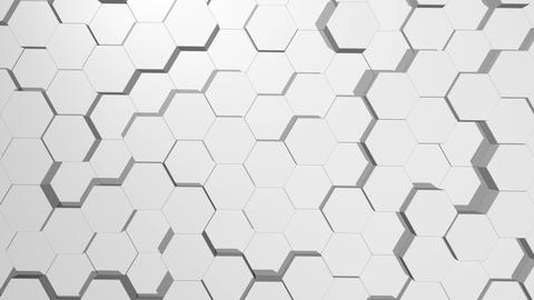 Abstract hexagonal white background. Seamless loop sequences ビデオ