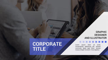 Full Screen Corporate Titles Plantilla de After Effects