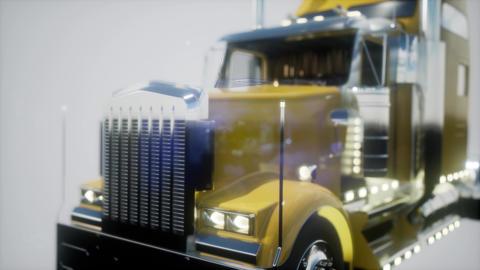 bright american lorry track in studio ビデオ