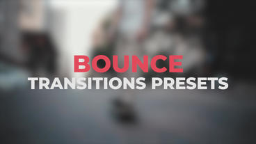 Bounce Transitions Presets Premiere Pro Template