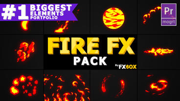 Cartoon Fire FX Motion Graphics Template
