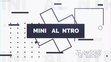 Minimal Intro After Effects Template