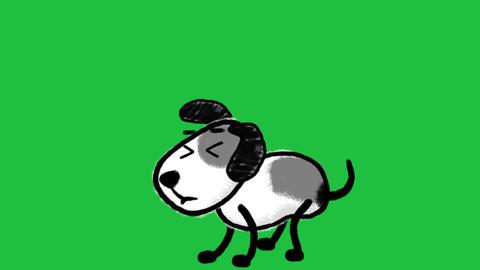 Cartoon Dog, Scared and Running GIF