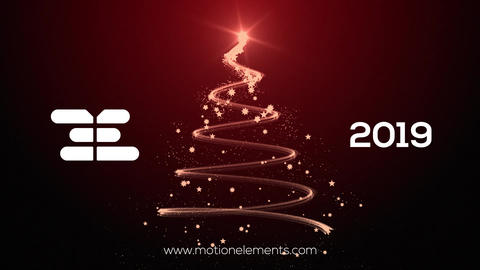 Christmas Tree Particles Animation After Effects Template