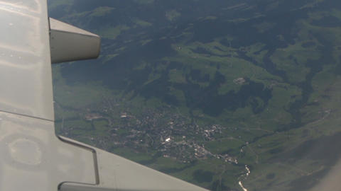 The Village From Airplane Window GIF