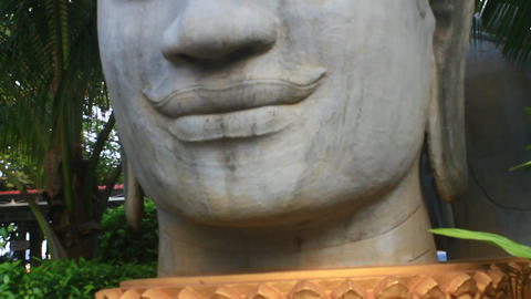 Buddha statue in asian Footage