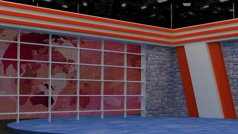 News TV Studio Set 157 - Virtual Background Loop Live Action