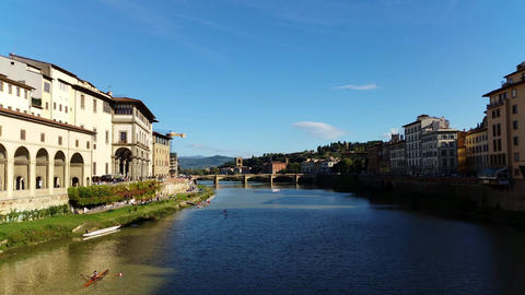 Florence (Firenze), Italy. Arno River stock footage