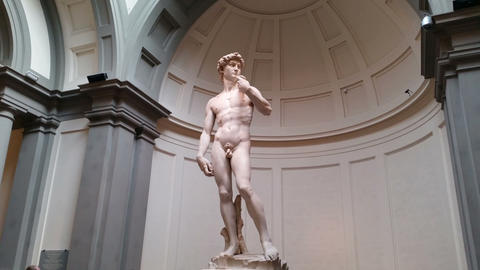 Florence (Firenze), Italy - Michelangelo's Statue of David Footage