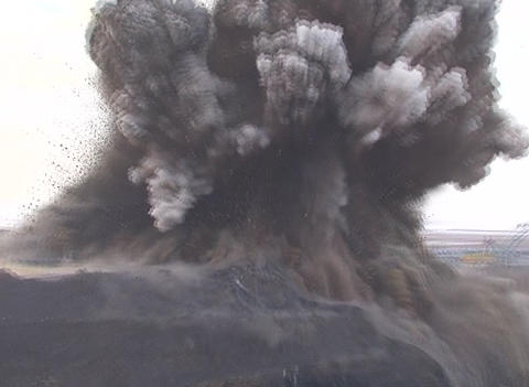 Explosion at a mining quarry Footage