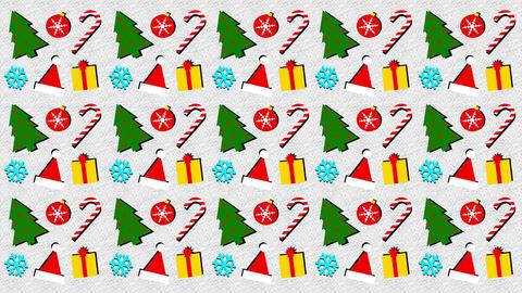 Christmas Memphis Style Background 1 Animation