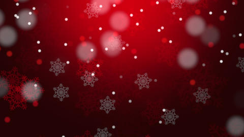 Falling Snowflakes Christmas Background Animation