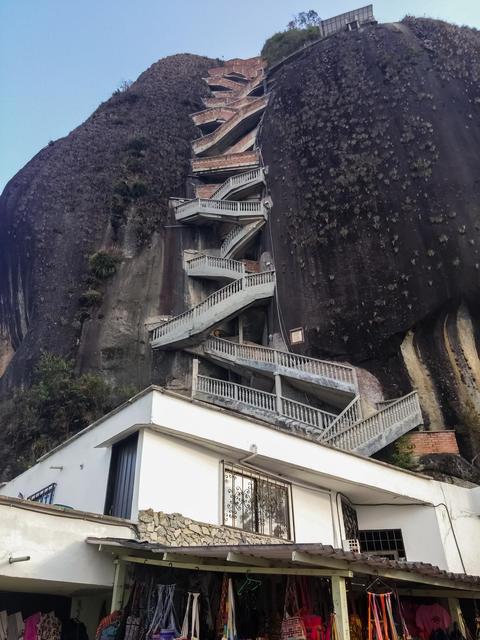 The Rock of Guatape or Stone of El Penol. Landmark monolith in Colombia Photo