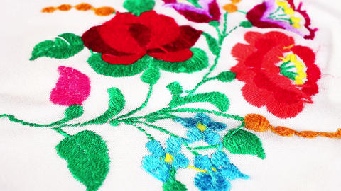 Embroidery handwork grandma's hobby Live Action