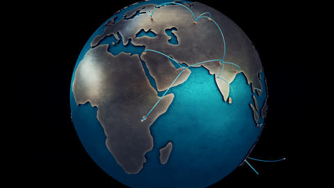 Global Network Stock Video Footage