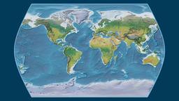 Brazil. Times Atlas. Topographic Animation