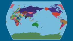 China. Times Atlas. Administrative Animation