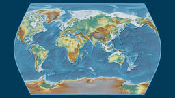 Greece. Times Atlas. Relief Animation