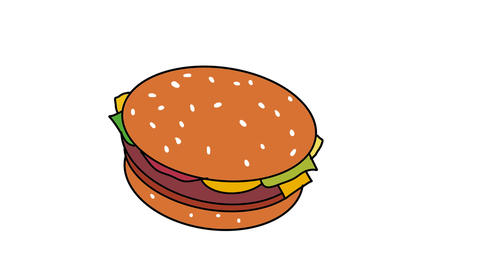 Morphing Junk Foods Color Drawing 2D Animation Animation