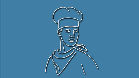 Chef Neon Sign 2D Animation Stock Video Footage