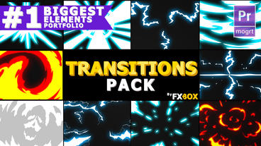 Dynamic Handy Transitions Motion Graphics Template