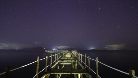 A beach under the stars Footage