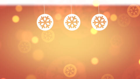 Christmas Background Orange Animation