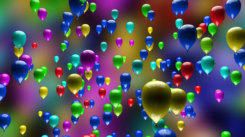 Colorful Balloons Ascending 3D Animation Animation