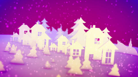 Christmas paper images in pink backdrop Animation