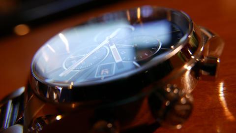 4K Elegant Analog Wrist Watch Macro Shot Live Action