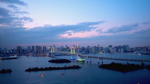 TimeLapse - Daytime to night scenery in Tokyo and Tokyo bay - FIX Acción en vivo