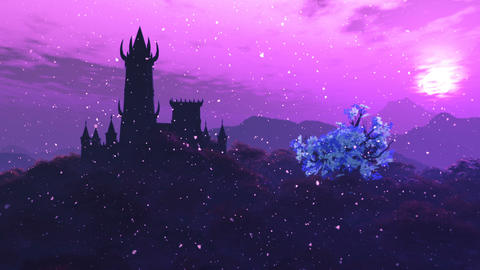 Fantasy Castle and Fire Flies in a Mysterious World 3D Animation 2 Animation