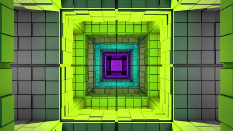 4K Sci-Fi Minimalist Cube Color Changing Maze 3D Animation Animation