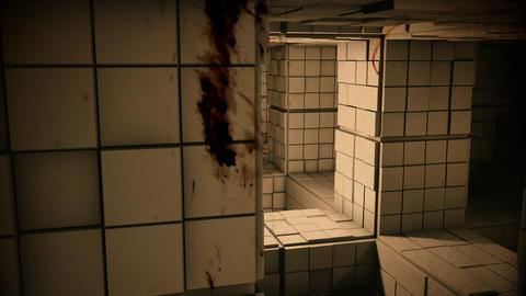 4K Sci-Fi Minimalist Cube Labyrinth Modern Fantasy Utopia 3D Animation Vintag Animation