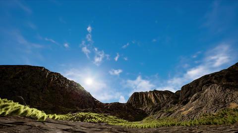 4K Arid Highland Landscape Daytime Hyperlapse 3D Animation Animation