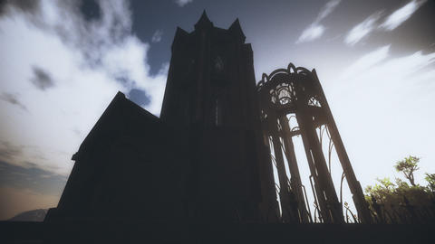 Spooky Fantasy Castle in Mystery Land 3D Animation Animation