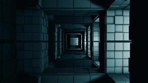 4K Sci-Fi Minimalist Cube Maze Fantasy 3D Animation Animation